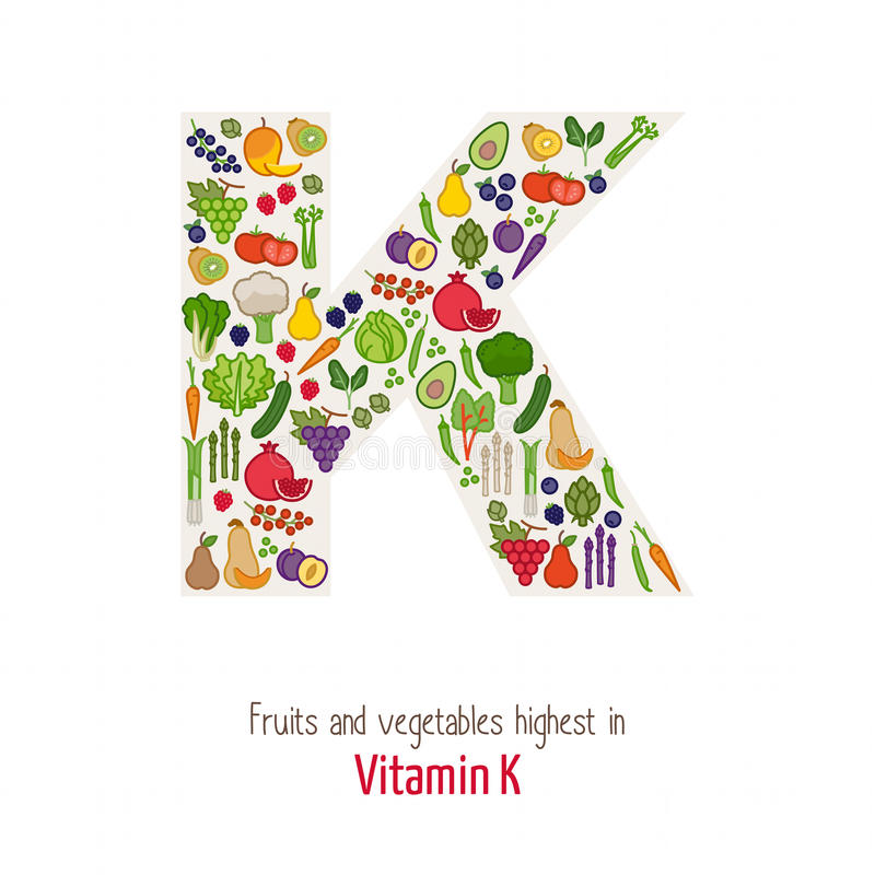 Vitamin K royaltyfri illustrationer
