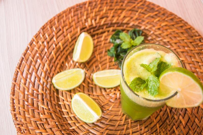 Vitamin lemon juice stock image