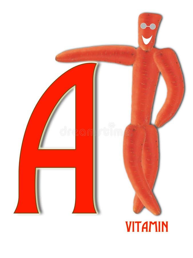 Vitamin A och morötter royaltyfri foto