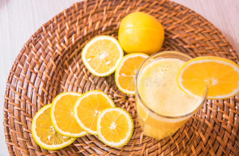 Vitamin orange juice stock photo