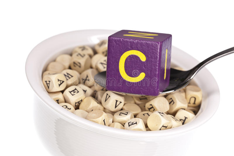 Download Vitamin-rich Alphabet Soup Featuring Vitamin C Stock Image - Image: 22859979
