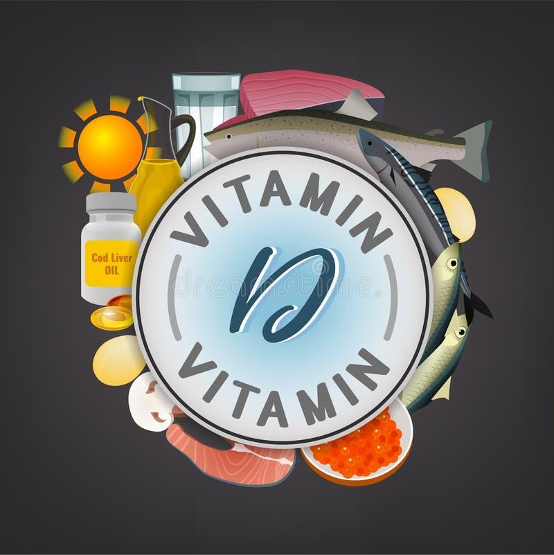 Vitamin Stamp Banner stock illustration