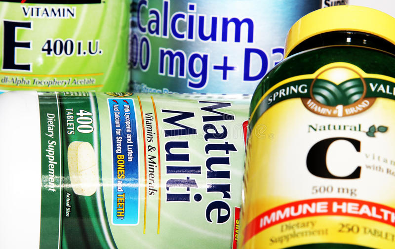 Vitamin Supplements stock images