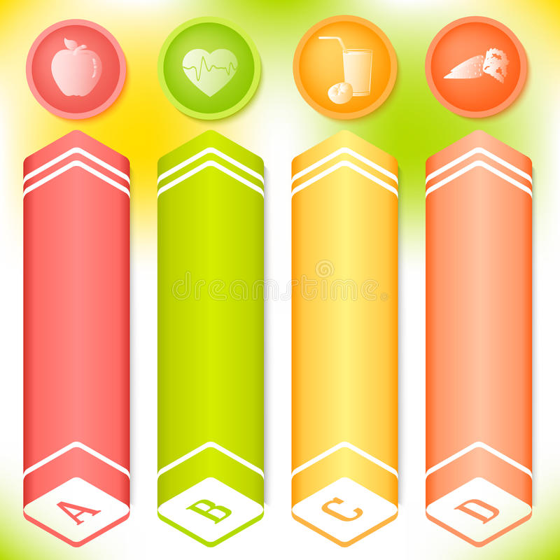 Vitamin vertical banner set spring theme royalty free illustration