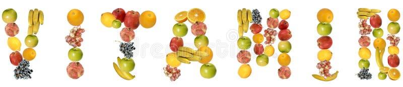 Vitamina imagem de stock
