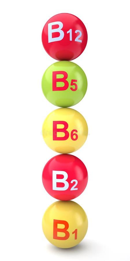 Vitamina b illustrazione di stock