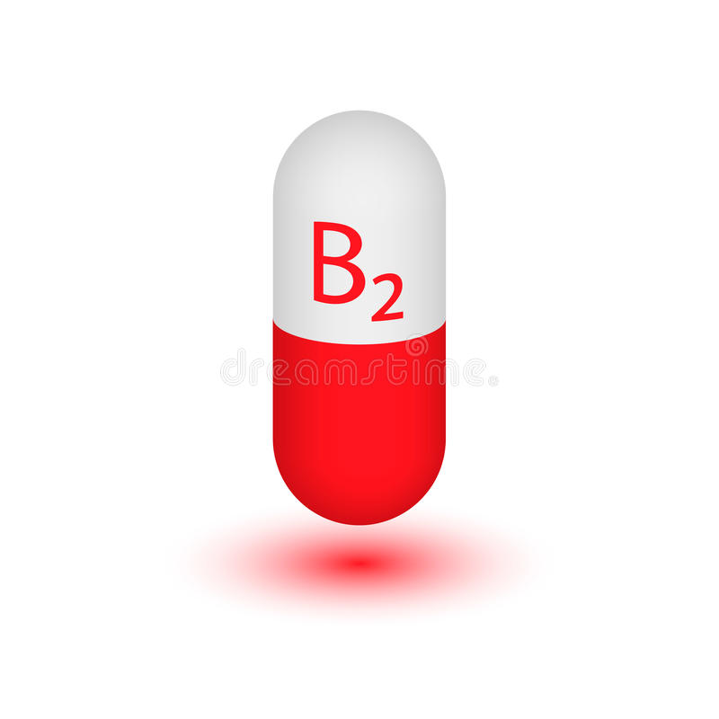Vitamina B2 ilustração stock