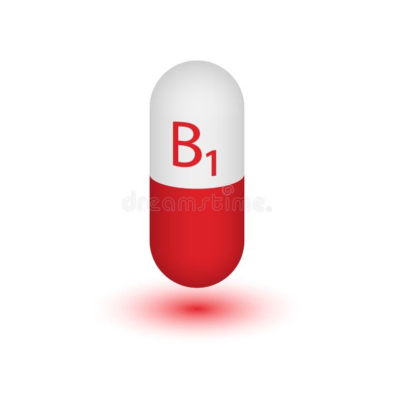 Vitamina B1 ilustração do vetor