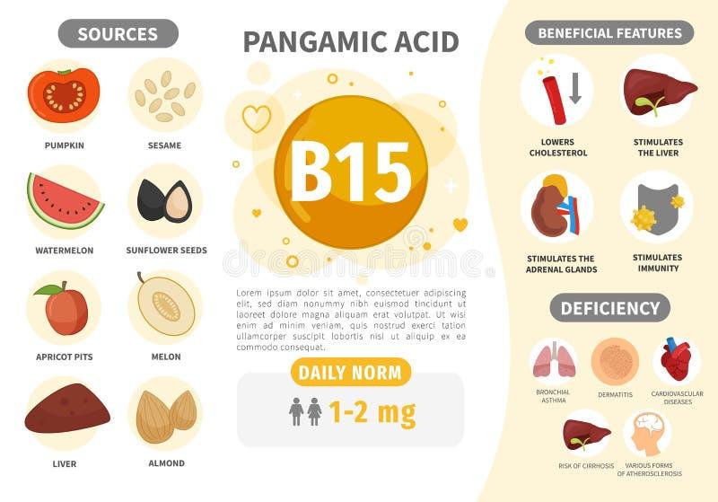 Vitamina B15 de Infographics libre illustration