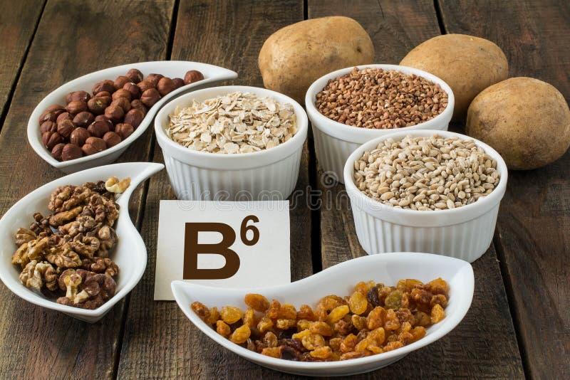 Vitamina B6 de los ingredientes imágenes de archivo libres de regalías