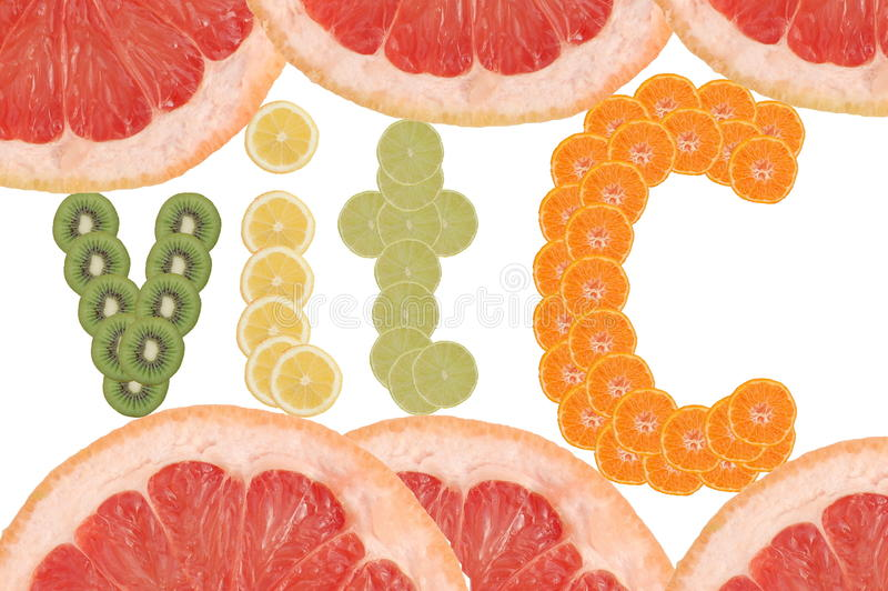 Vitamina C immagine stock