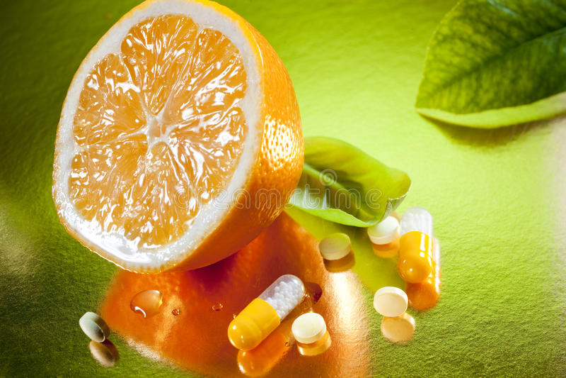 Vitamina C imagens de stock