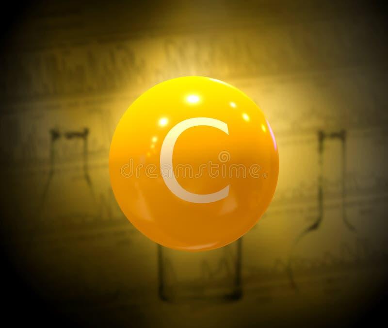 Vitamina C manipulada na clínica e no laboratório para lutar os vírus e as bactérias que aumentam a imunidade e a resistência imagem de stock royalty free
