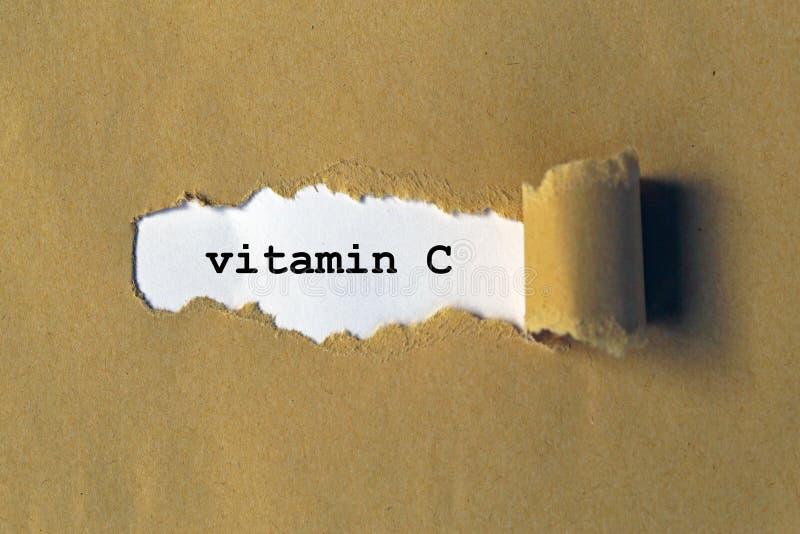 Vitamina c no papel foto de stock