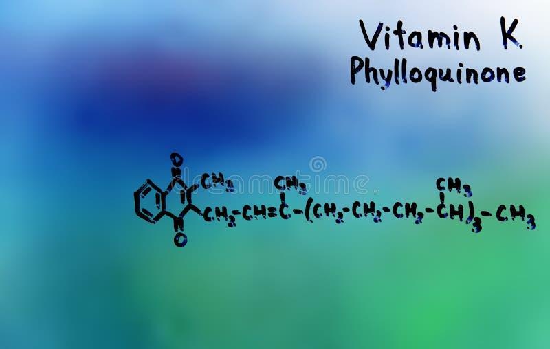 Vitamina K, formula, vitamine fotografia stock