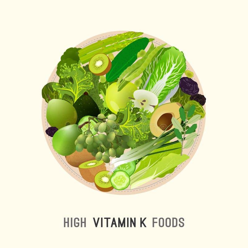 Vitamina K no alimento ilustração royalty free