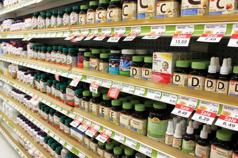 Vitaminas e suplementos fotos de stock