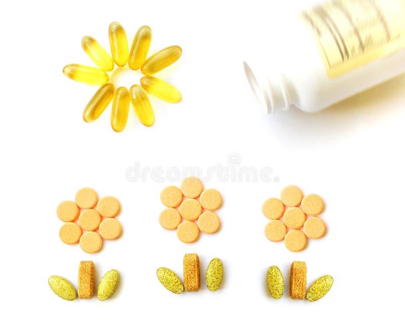 Vitaminas para crescer acima imagens de stock