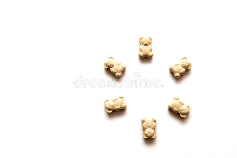 Vitaminas para los niños bajo la forma de osos imágenes de archivo libres de regalías