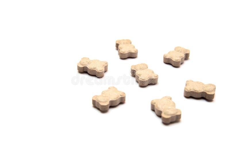 Vitaminas para los niños bajo la forma de osos fotografía de archivo