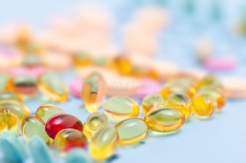 Vitaminas y minerales foto de archivo libre de regalías