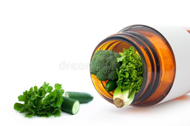 Vitaminas y minerales imagen de archivo