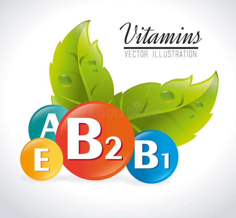Vitamindesign royaltyfri illustrationer