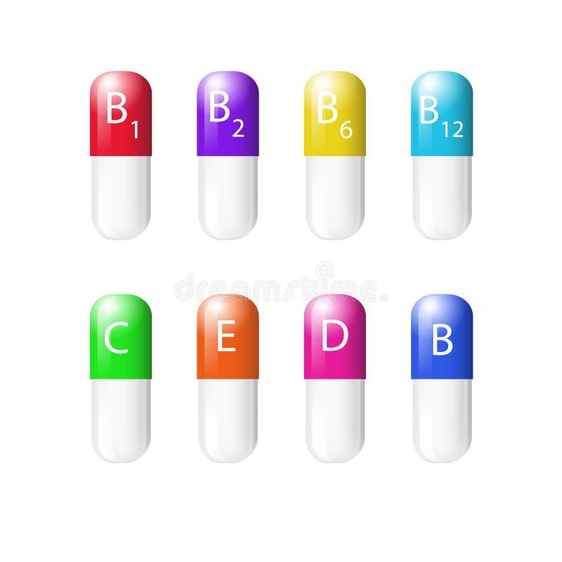 Vitamine lizenzfreie abbildung