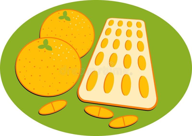 Vitamine C illustration stock