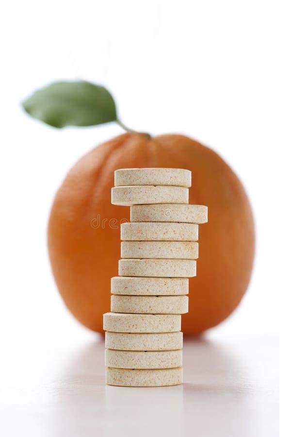 Vitamine C przedstawicielstwo zdjęcie stock