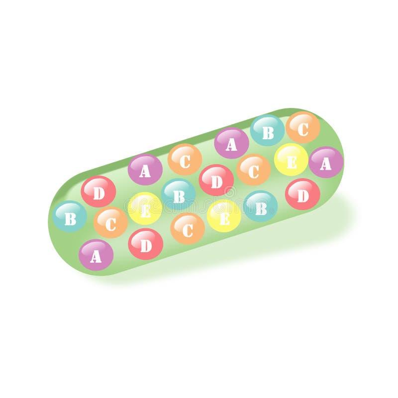 Vitamine in capsula immagini stock