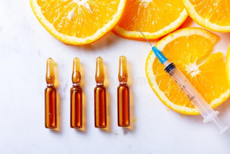 Vitamine Cconcept stock afbeeldingen