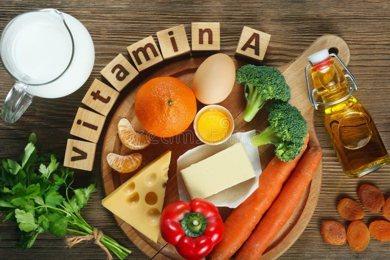 Vitamine A en nourriture image stock