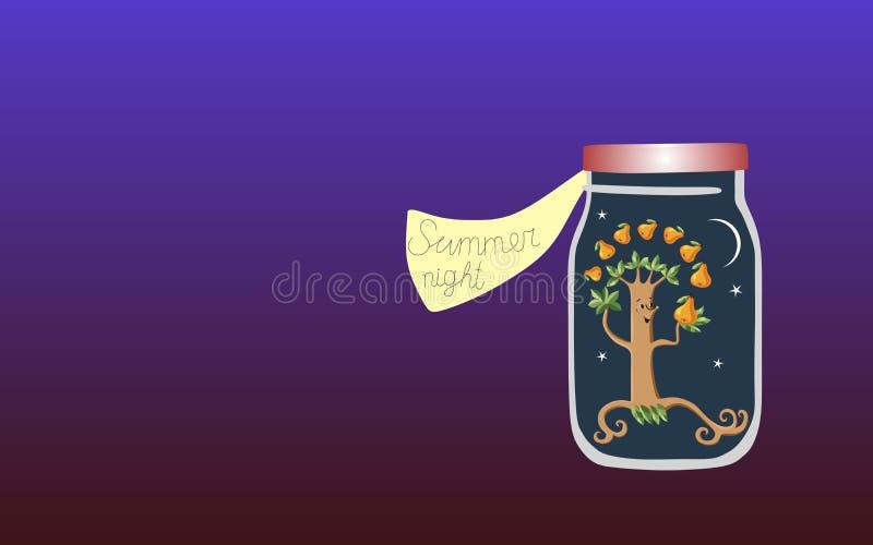 Vitamine per l'anima 7 Illustrazione allegorica di vettore Medicina per l'anima Notte di estate royalty illustrazione gratis