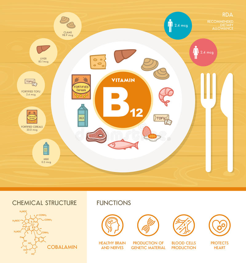 Vitamine und Mineralien vektor abbildung