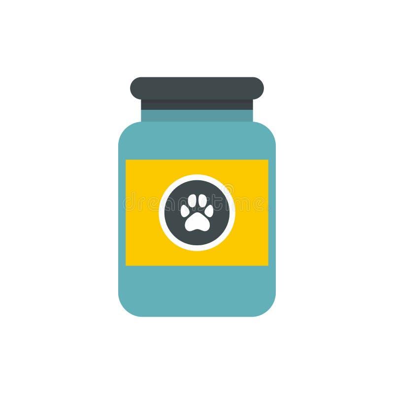 Vitaminen of geneesmiddel voor dierenpictogram royalty-vrije illustratie