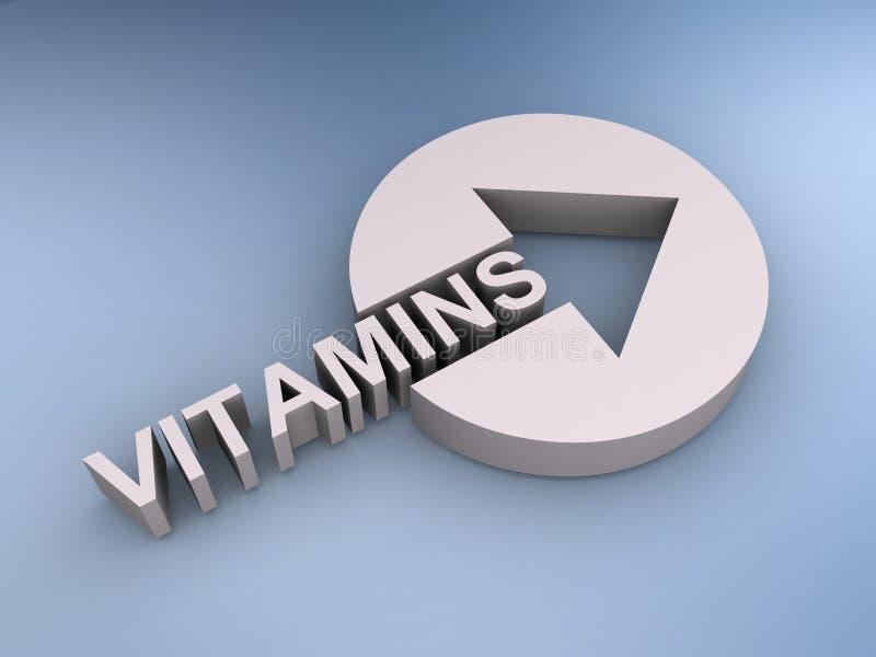 Vitaminenillustratie royalty-vrije stock foto