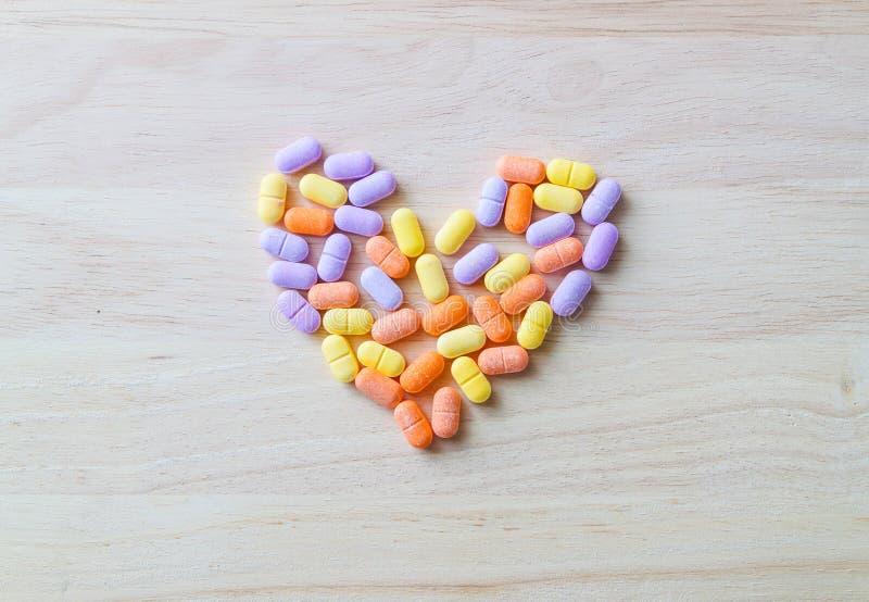Vitaminepillen royalty-vrije stock fotografie