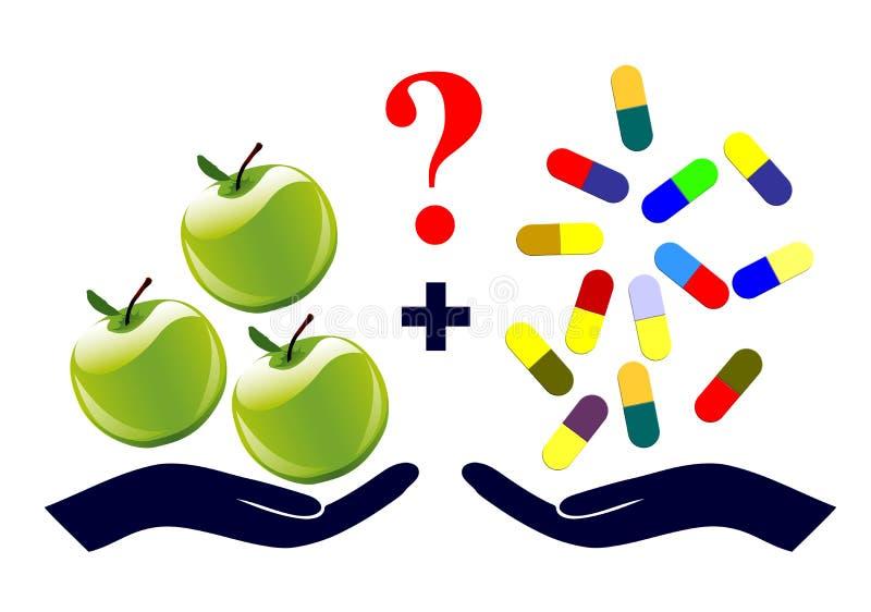 Vitaminergänzungen lizenzfreie abbildung