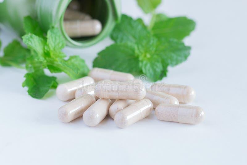 Vitaminergänzungen, Kräuter stockfotos