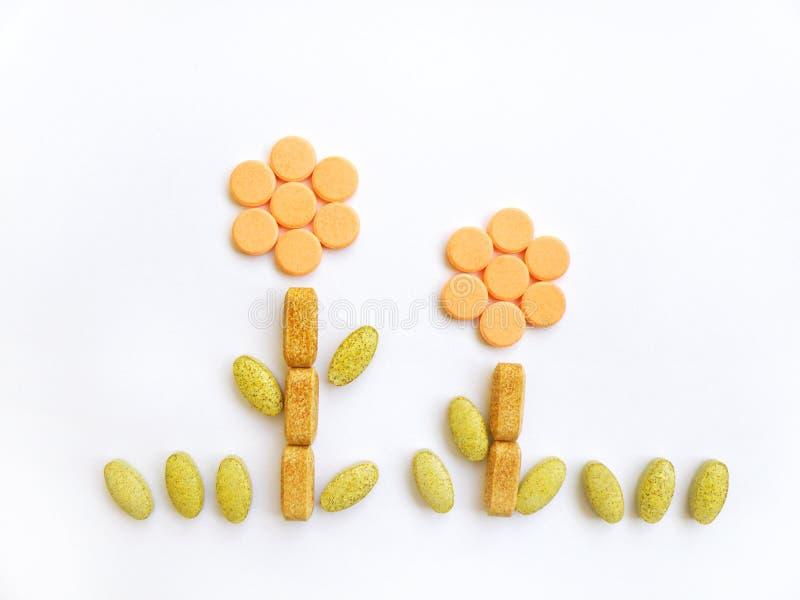 Vitamines pour l'accroissement sain photos libres de droits