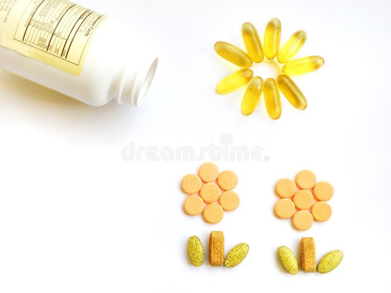 Vitamines pour l'accroissement sain photo libre de droits