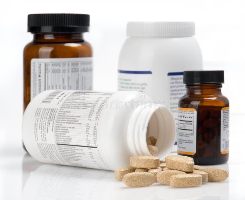 Vitaminetabletten royalty-vrije stock foto's