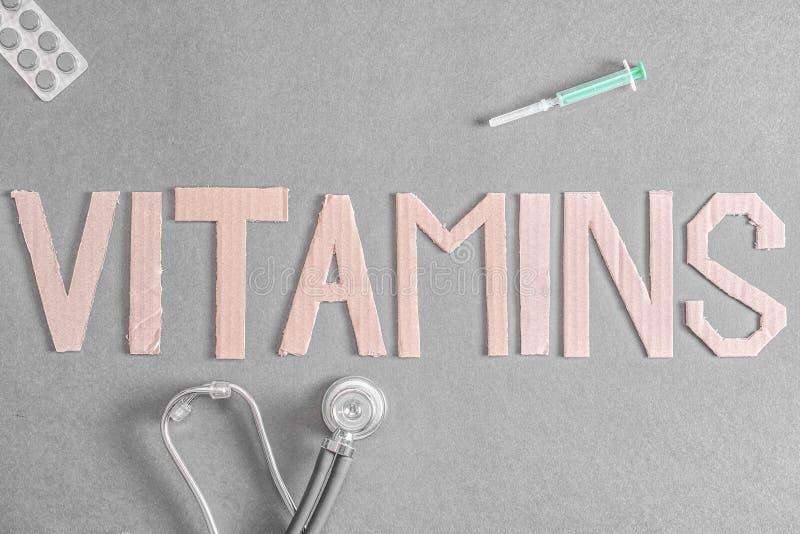 Vitaminhintergrund stockfotografie