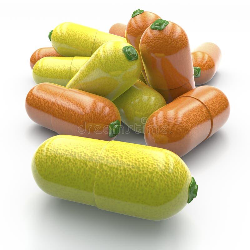 Vitaminpillen lizenzfreie abbildung