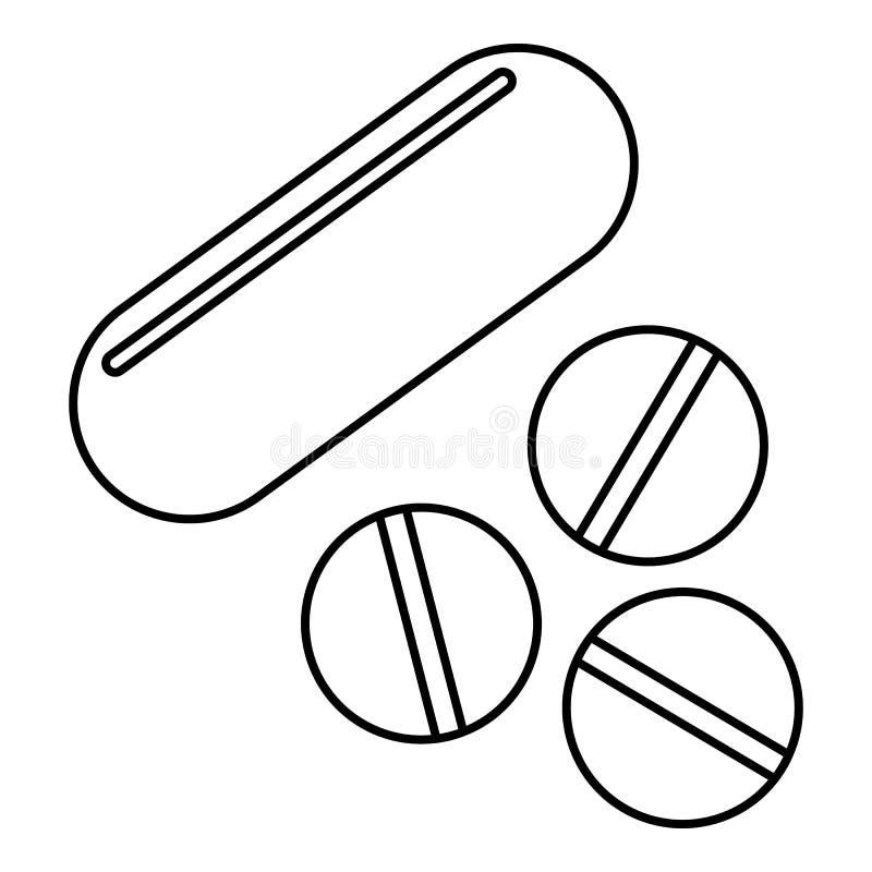 Vitaminpillenikone, Entwurfsart vektor abbildung