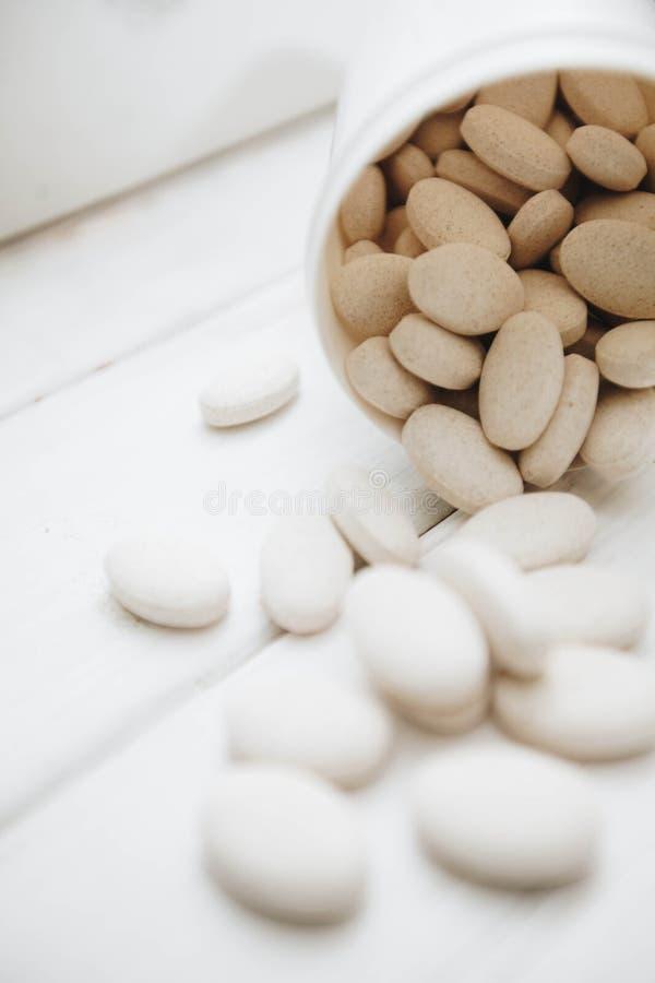 Vitaminpreventivpillerar för husdjur arkivbild