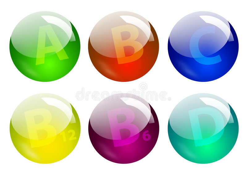 Download Vitamins stock illustration. Image of volumetric, violet - 522076