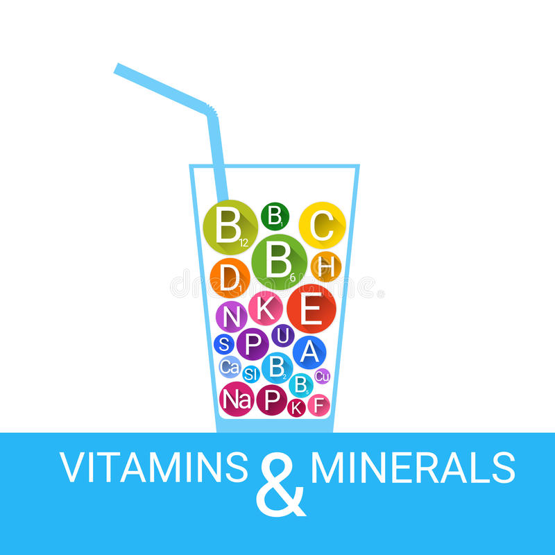 Free Vitamins Cocktail Glass Essential Chemical Elements Nutrient Minerals Stock Image - 75113421
