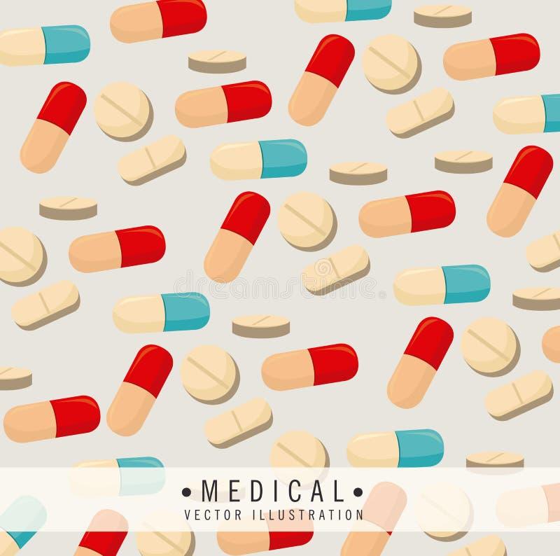 Vitamins design. Over beige background, vector illustration vector illustration